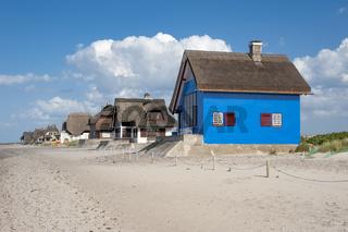 Historisches Gebäude auf der Halbinsel Graswarder in Heiligenhafen
