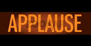 Retro TV Studio Applause Sign