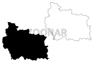 Gabrovo Province (Republic of Bulgaria, Provinces of Bulgaria) map vector illustration, scribble sketch Gabrovo map