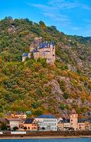 Katz Castle at Rhine Valley, Germany