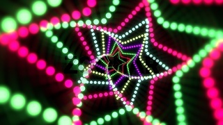 Colorful neon stars, abstract background