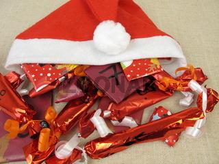 Selbst gebastelter Weihnachtskalender