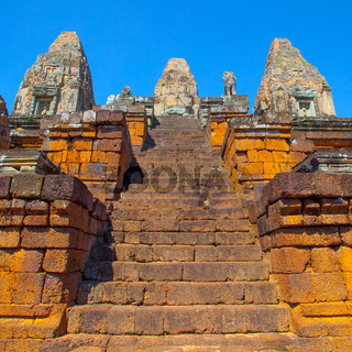 Staircase of ancient Pre Rup temple