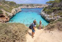 People turquoise Calo des Moro Mallorca