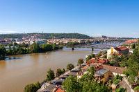 Ther river Vltava river in Prague