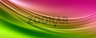 Abstract elegant wave panorama design with space for your text