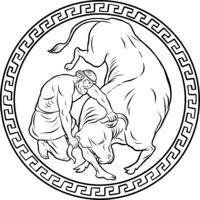Cretan Bull. 12 Labours of Hercules Heracles