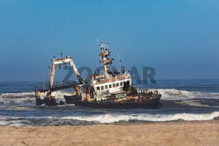 Shipwreck Zeila - Hentiesbaai Skeleton Coast, Namibia Africa