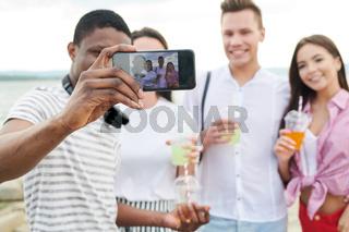 Selfie portrait of friends