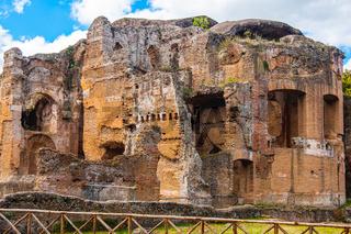 Grand Thermae or Grandi Terme of Villa Adriana or Hadrians Villa archaeological site of UNESCO in Tivoli - Rome - Lazio - Italy