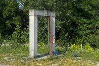 Denkmal Tor zur Freiheit am einstigen Eisernen Vorhang zwischen Ungarn und Österreich