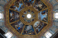 Panoramic view of interior cupola of the Medici Chapels (Cappelle Medicee)