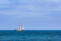 Barquentine in the Sea