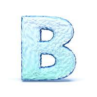 Ice crystal font letter B 3D