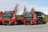 Two Volvo Trucks Oversize Load Transport