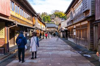 Higashichaya Old Town in Kanazawa, Japan