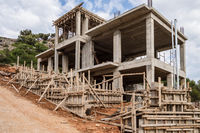 Construction with formwork and reinforcement