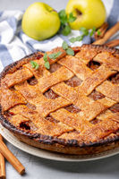 Traditional homemade apple pie.