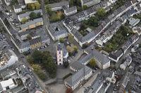 Luftbild Siegen oberstadt, Nikolaikirche