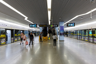 Shanghai Hongqiao Railway MRT Metro Station in China