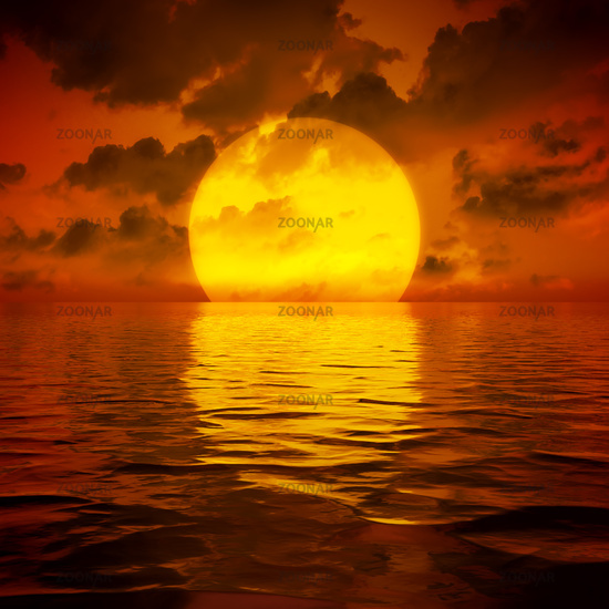 big sooting sunset wallpaper