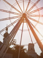 Ferris Wheel Closeup in Győr, Hungary