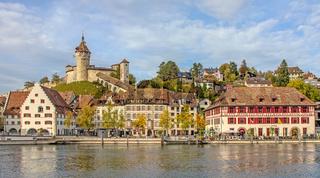 Schaffhausen mit Munot und Güterhof, Schweiz