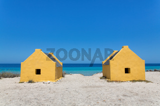 Two slave houses at  coast of Bonaire