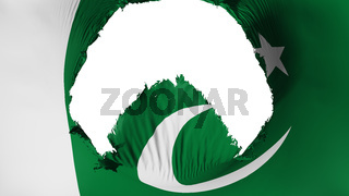 Big hole in Pakistan flag