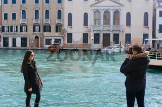 Beautiful couple in Venice, Italy