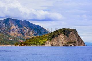 Island St. Nicholas in Budva Montenegro