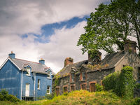 Old and new house in castletownbere ireland