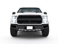 Modern white pick-up truck, suv vehicle
