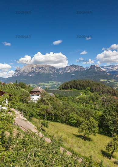 Landscape at Ritten near Klobenstein