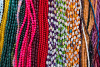 Joyful colored beads necklaces.