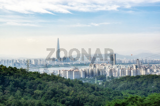view of seoul from achasan mountain