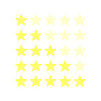 Vector illustration 5 stars yellow stars best place