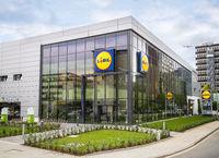 Filiale des Discounters Lidl in Frankfurt