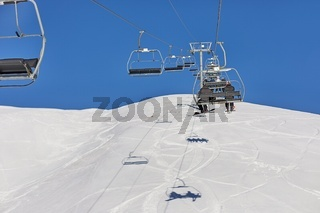 Ski lift at a ski resort
