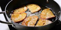 Frying bread in hot oil