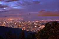 Beautiful view of George Town from Penang Hill.