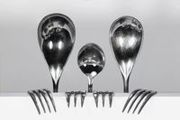 Cutlery Family of three spoons and four forks