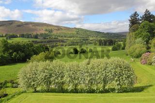 Landschaft bei Blair Castle in Schottland