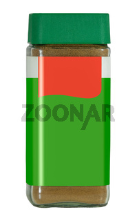 Isolated Jar Of Instant Coffee