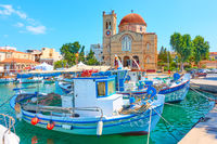 Waterfront in Aegina town