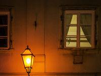 Street light with windows