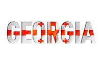georgian flag text font