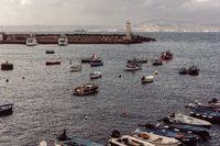 Berth with boats on sea shore