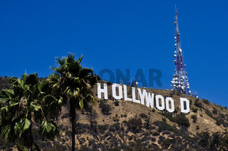 hollywood sign on hollywood hill