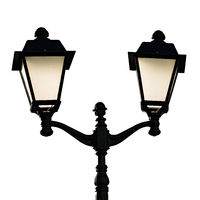 Decorative street lamp isolated on white background